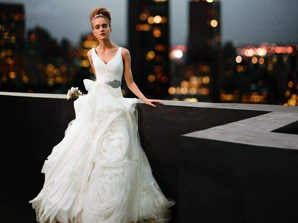 Get Your Plus Size Bridal Gown with White by Vera Wang ...