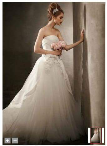A Plus Size Blushing Bride In White by Vera Wang | The Curvy ...