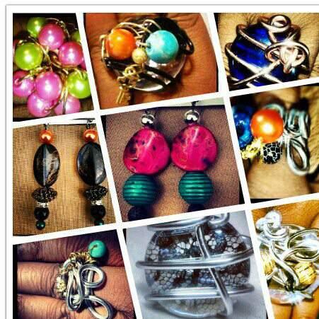 Plus size handmade rings Mint Jelly Jewels