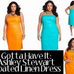 Ashley Stewart Plus Size Coated Linen Dress