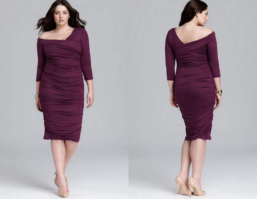 Melissa Masse Ruched Dress from Bloomingdales