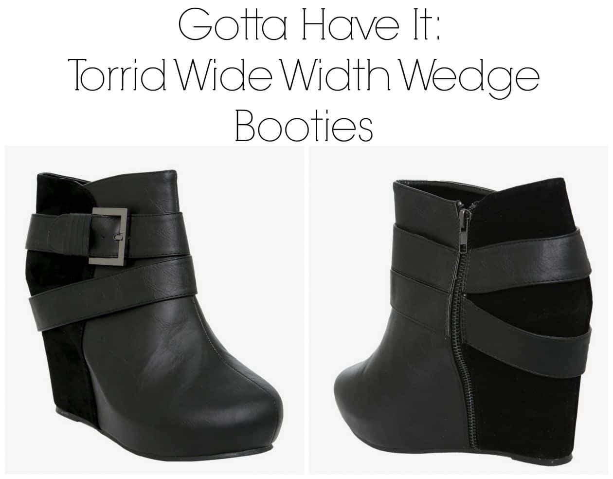 Torrid Wide Width Wedge Booties