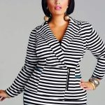 Monif C Plus Sizes Veronica Ponte Zipper Front Blazer