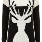 Dorothy Perkins Tall black and white stag jumper