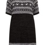 black-fairisle-heart-tunic-by-evans-Plus Size Sweater Dress on The Curvy Fashionista