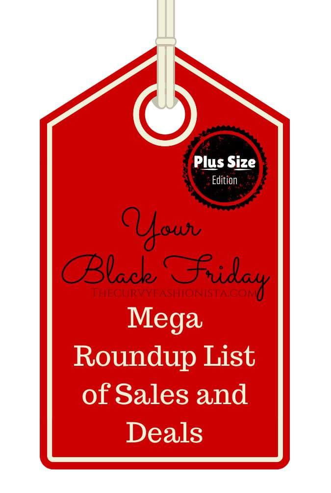 Your Black Friday Plus Size Fashion Mega List