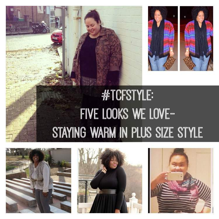 #TCFSTyle: Five Looks We Love- Staying Warm In Plus Size Style