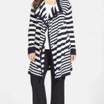 anne-klein-stripe-long-flyaway-cardigan-Plus Size Cardigans on The Curvy Fashionista