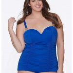 Seamed Maillot with Built-In Balconette Bra at Lane Bryant