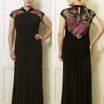 Cateline's Black & Pink Plus Size Long Dress by Viviana