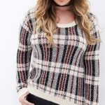 Forever 21 Sparkly Plaid Sweater