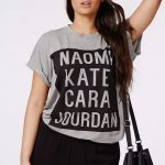 Missguided PLUS SIZES MODEL NAME T SHIRT