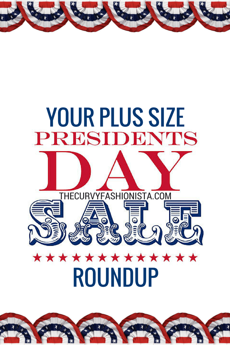 The Curvy Fashionista's plus size presidents day sale roundup