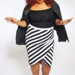 AVA + VIV Striped Skirt on TheCurvyFashionitsa.com