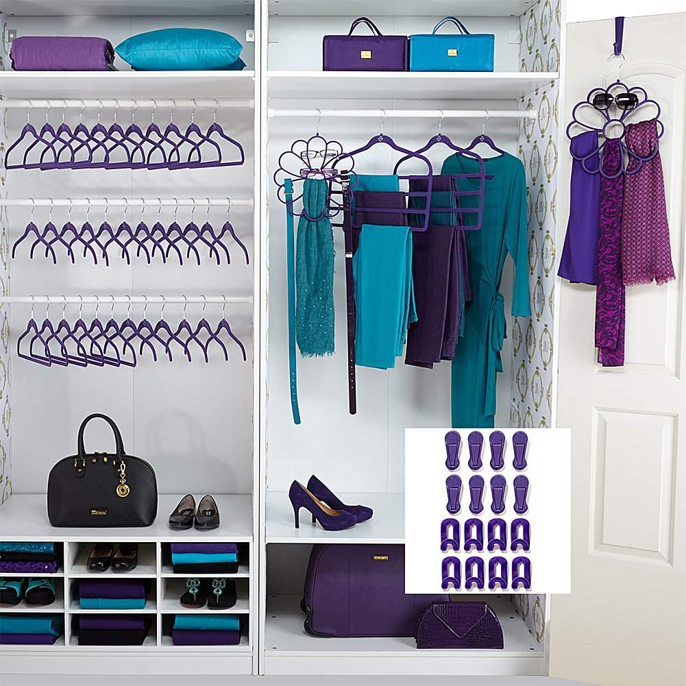 Five Tips To Keeping Your CLoset Organized- Huggable hangers complete set