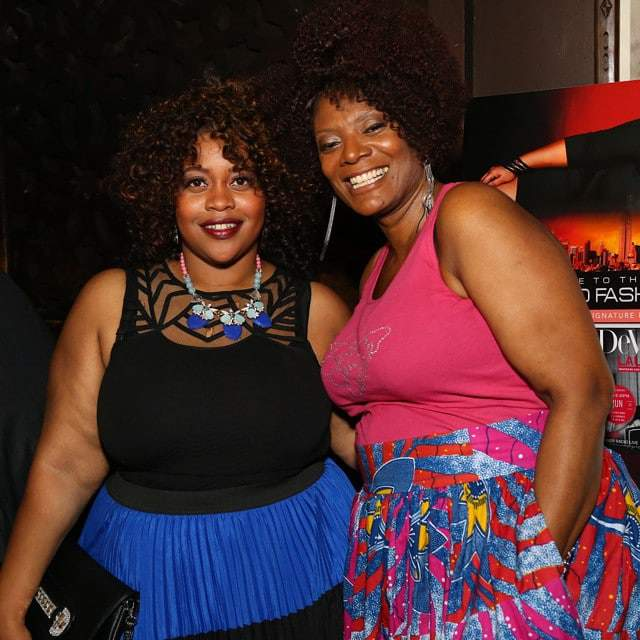 Gwen Devoe with Sabrina Servance at the Devoe Magazine Launch