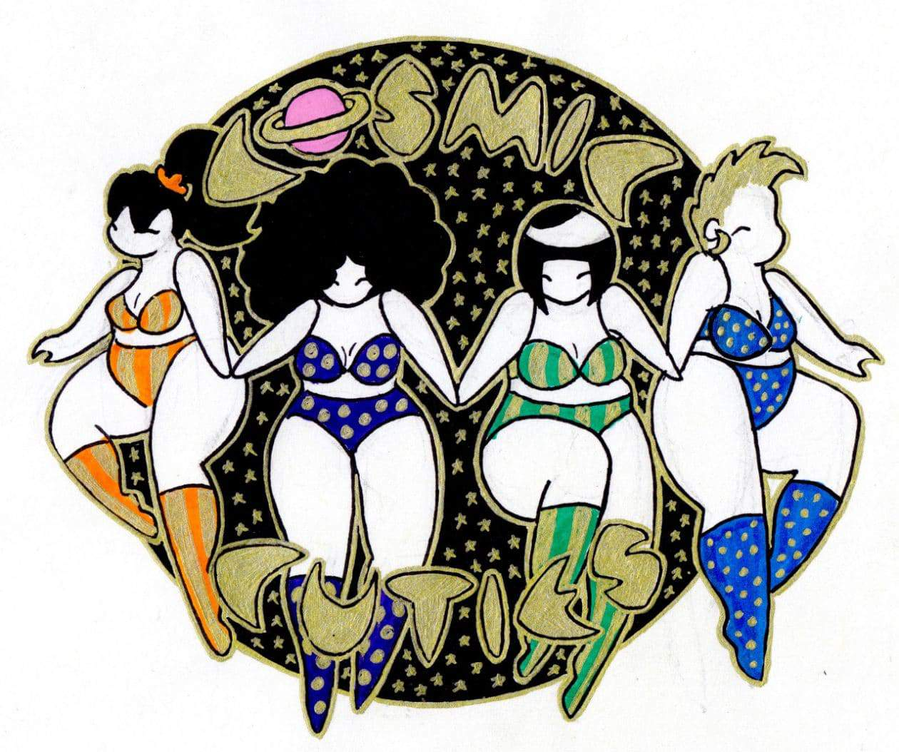 Plus Size Art Spotlight: Cosmic Cuties by High School Student Mikhaila Nodel