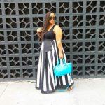 Plus Size Blogger- Marie Denee from The Curvy Fashionista in a Metamorphoza Custom Skirt