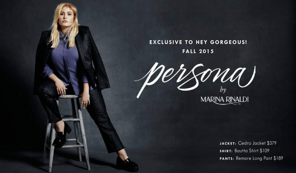 The Persona by Marina Rinaldi Look Book by Hey Gorgeous on TheCurvyFashionista.com #TCFStyle