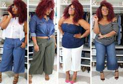 Plus Size Wide Leg Crop Pants with The Curvy Fashionista