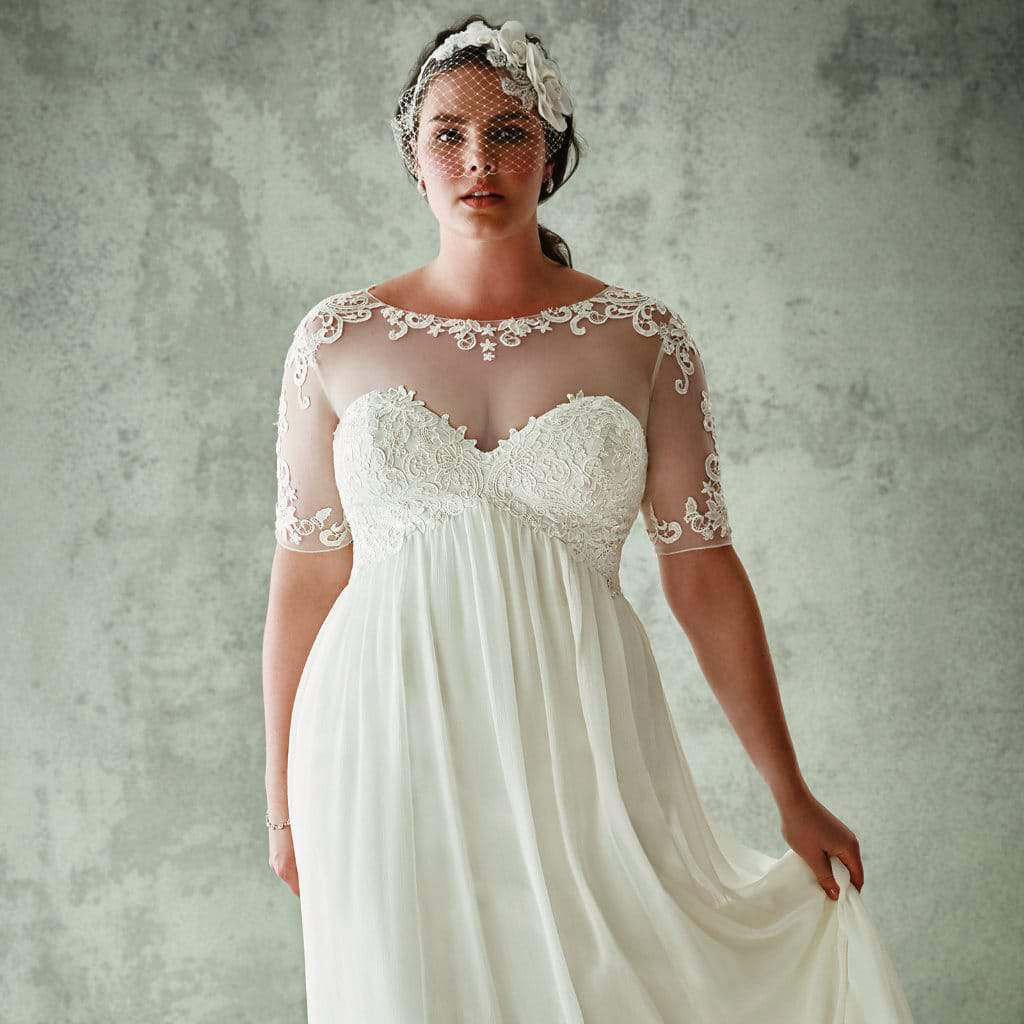 For the Plus Size Bride: Oleg Cassini for David\'s Bridal