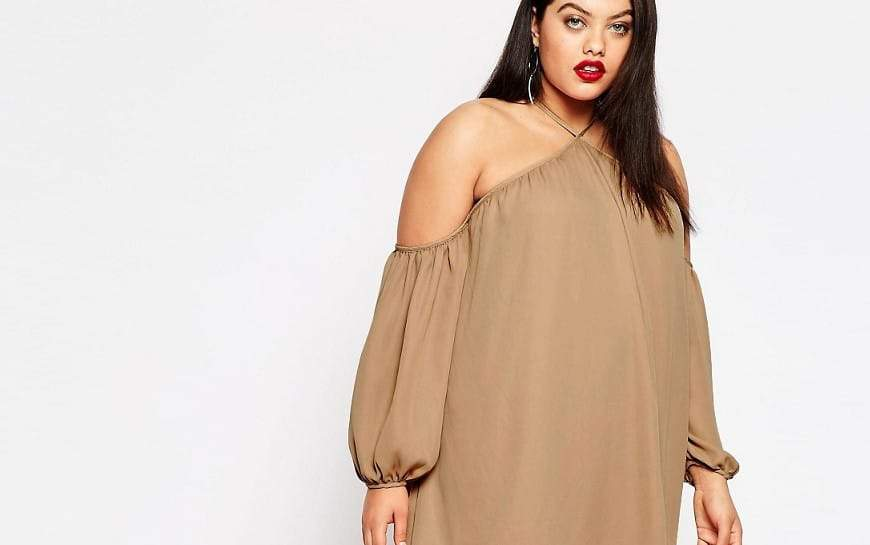 The Exaggerated Plus Size Cold Shoulder