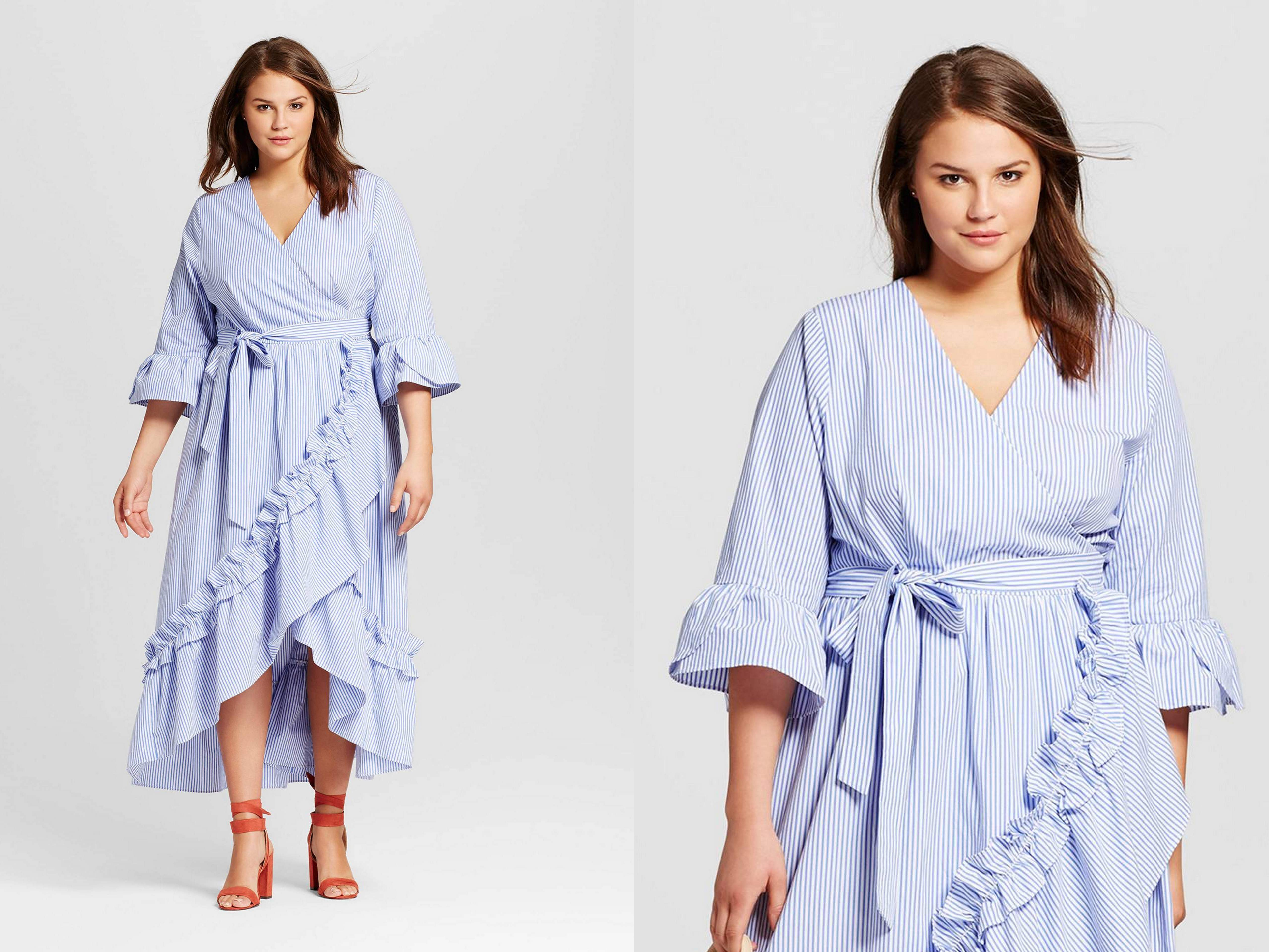 Plus size wrap dress from Target