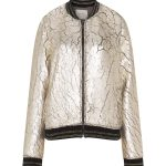 Open End Metallic Bomber Jacket