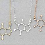 Caffeine Molecule Coffee Gift Caffeine Necklace