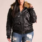 Plus Size Bomber Jacket by Deb Shops