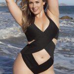 X+ Style. Plus size Bandage criss cross swimsuit suit