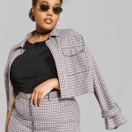 Wild Fable in Plus Sizes at Target- Wild Fable Women's Plus Size Plaid Cropped Shirt Jacket