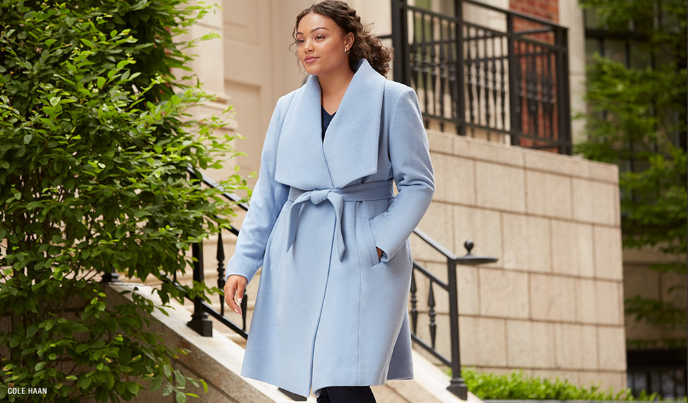 Fall's Bold Hued and Non Black Plus Size Coats to rock