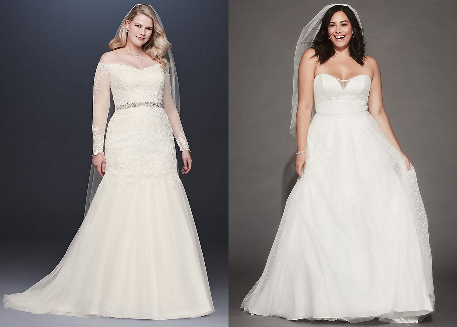 Affordable Plus Size Bridal Gowns Under $750