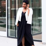 Plus size blogger shows of her plus size Holiday Style at Nordstrom Rack