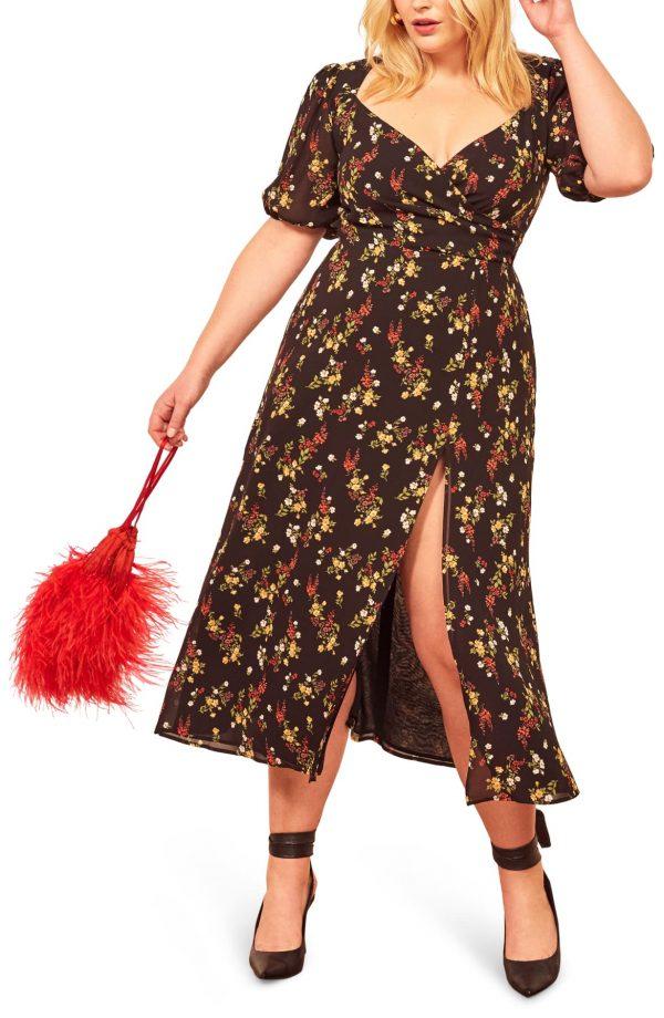 Wildflower Open Back Side Slit Dress