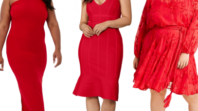 red plus size dresses for valentines