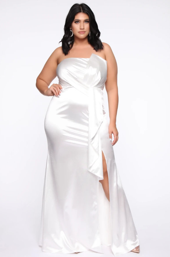 Smooth Down Satin Gown