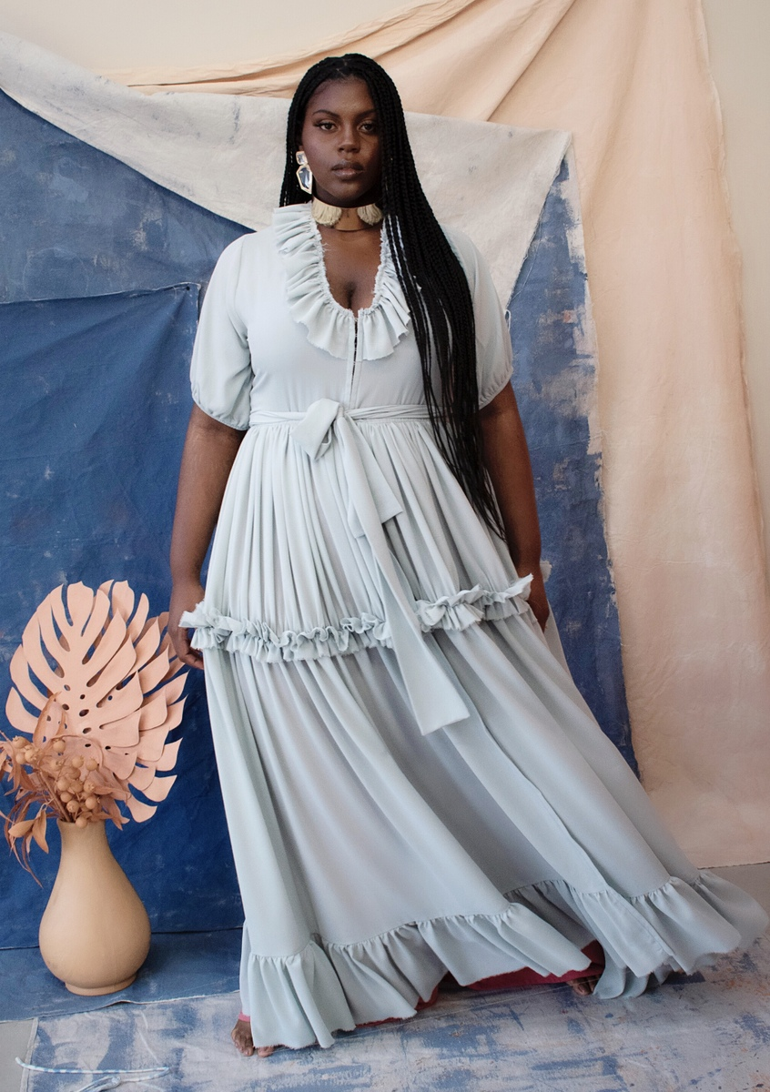 Zelie for She Resort Plus Size Collection- Dreaming in the Clouds Dress