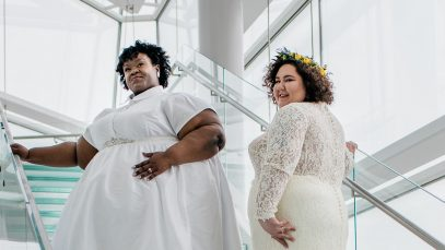 Mechanic Shop Femme and FlyNFluffy drop a size 3X+ Plus Size Bridal Look Book!