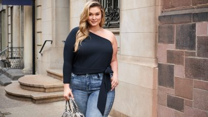 All Worthy Hunter McGrady One Shoulder Top with Tie