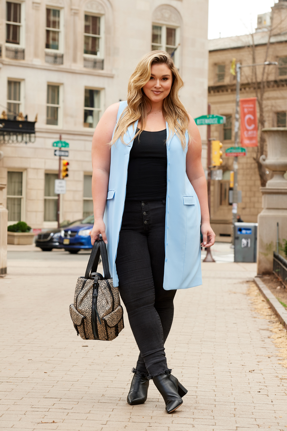 All Worthy Hunter McGrady Sleeveless Notch Collar Dress