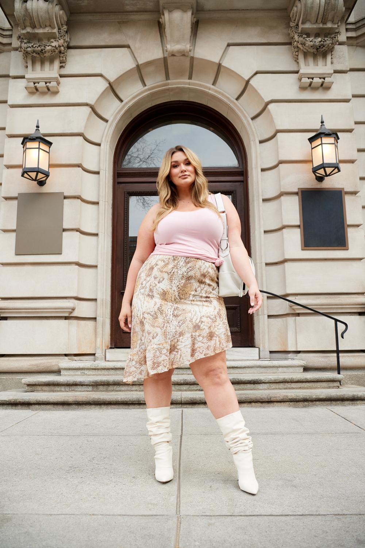 All Worthy Hunter McGrady Asymmetrical Ruffle Skirt