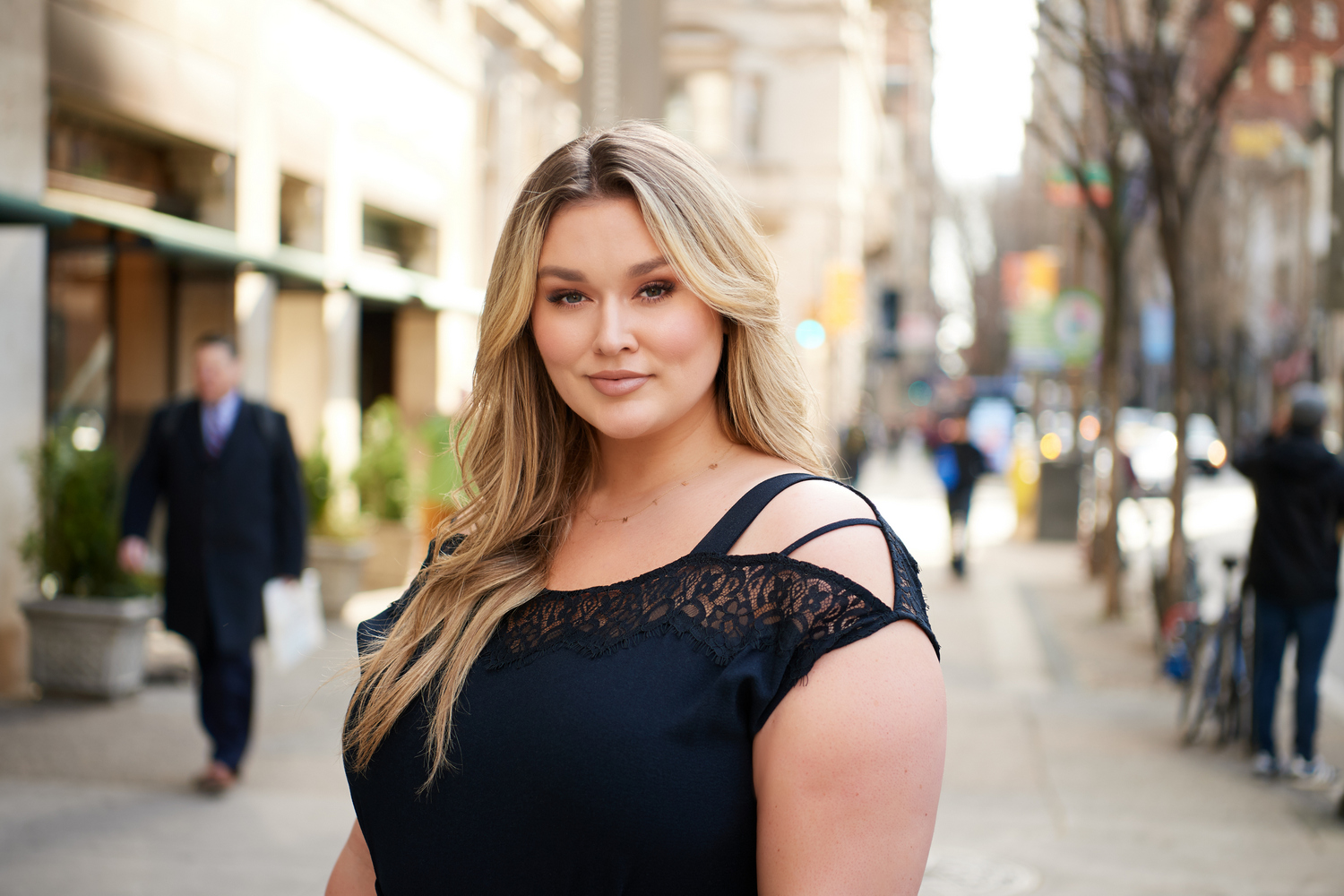 All Worthy Hunter McGrady Crepe Full Length Jumpsuit