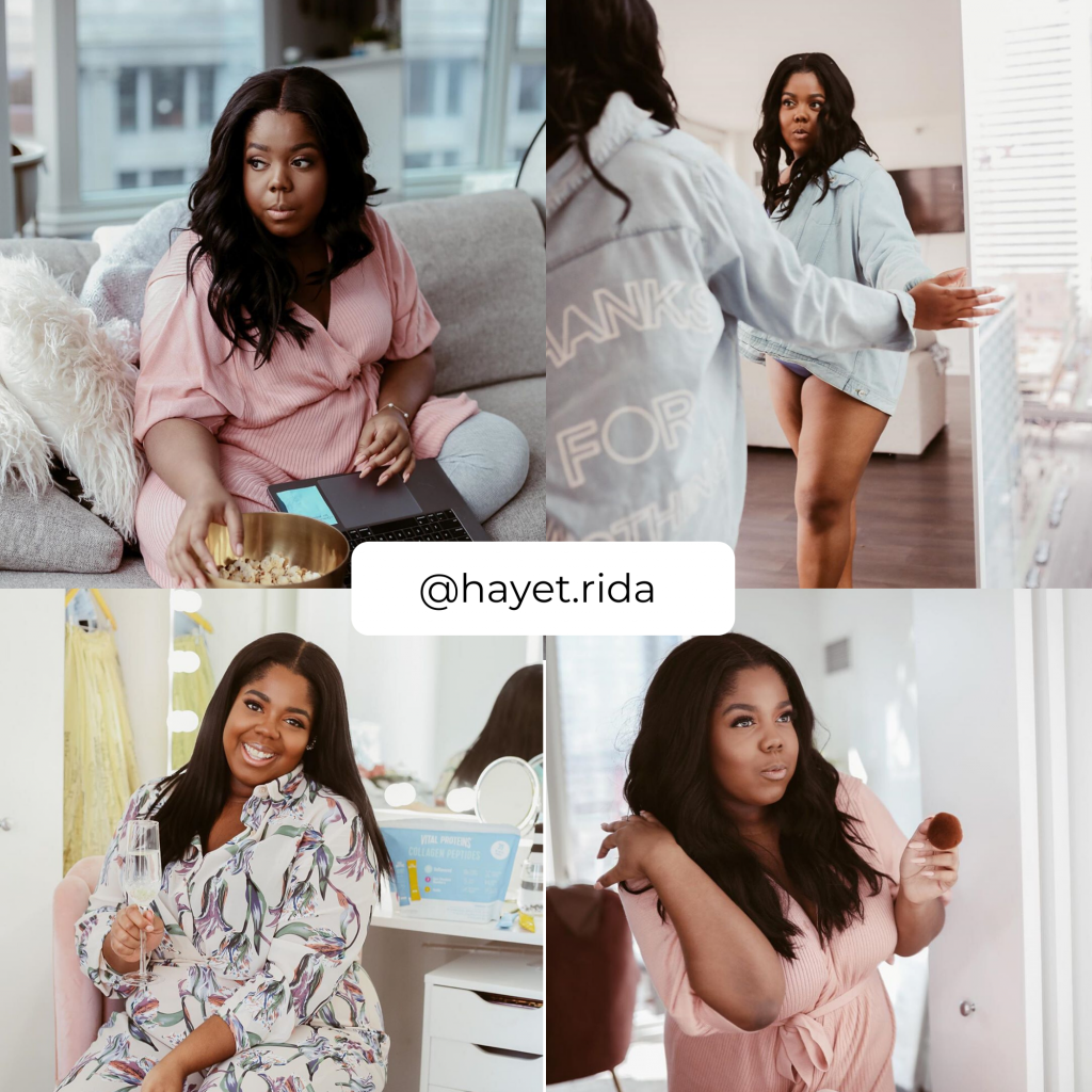 The Plus Size Influencers Who Have Some of the Best Plus Size Loungewear- @hayet.rida