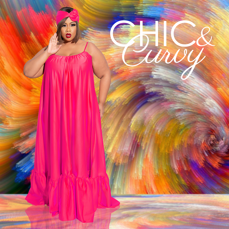 Chic and Curvy Plus Size Boutique-Maxi Dress Single