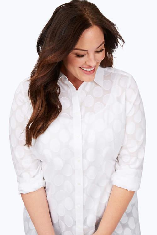 Journey Plus Burnout Clip Dot Shirt