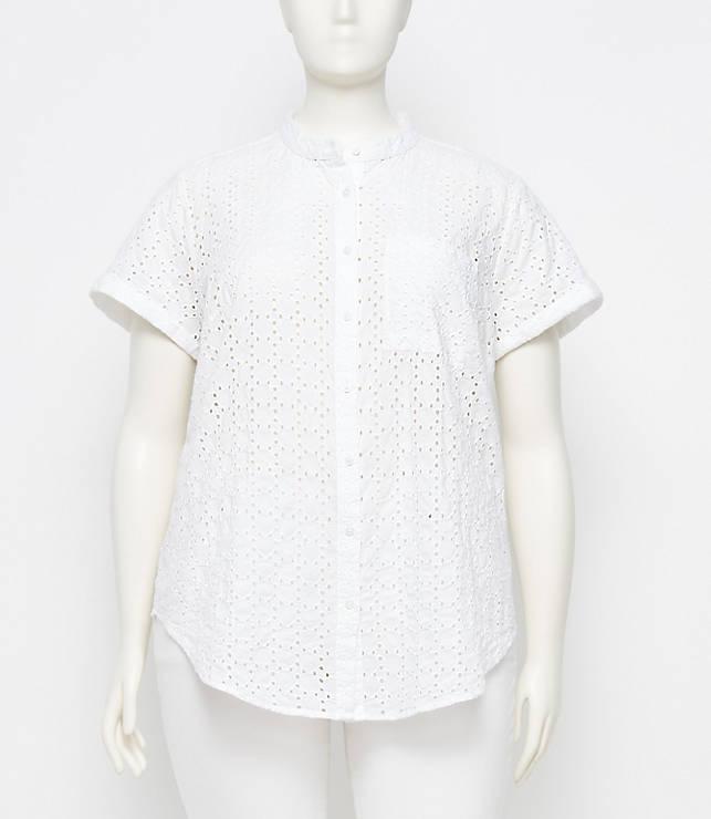 Loft Eyelet Pocket Shirt up to a size 26