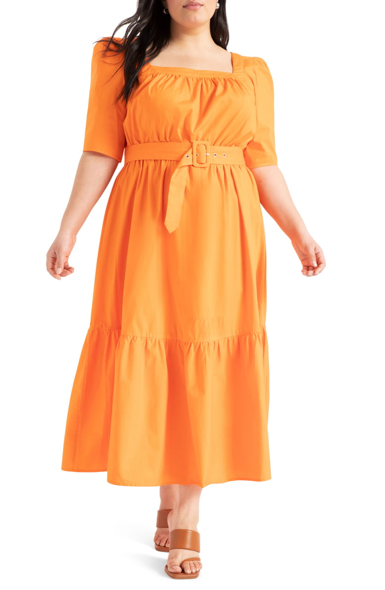May Plus Size Style Horoscope- Capricorn Eloquii belted dress