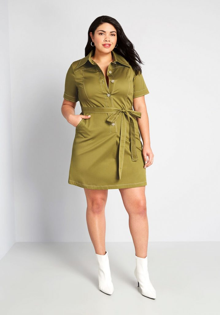 May Plus Size Style Horoscope- Classic With a Twist Shirt Dress